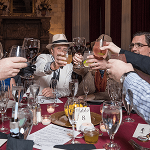 Newark Murder Mystery guests raise glasses